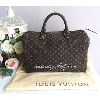 Louis Vuitton M95224 Monogram Mini Lin Speedy 30-Fusain