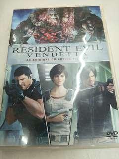 Resident Evil vendetta movie DVD