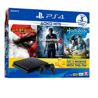 [PS4] PLAYSTATION 4 SLIM 500GB HITS BUNDLE