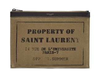 YSL clutch pouch documents case