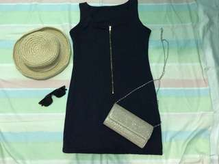 Knitted navy blue dress