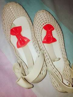 MSE White Beige Jelly Shoes