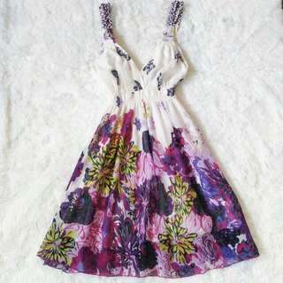 Costa Blanca Floral A-Line Dress