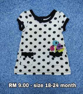 18-24 month. Kids Cloth Shirt Dress Baby Girl Boy