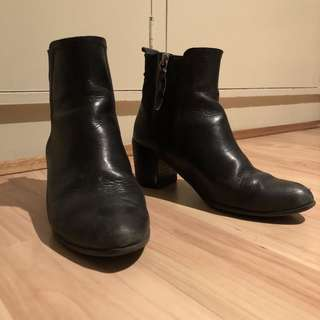 Worn Hush Puppies Ankle Boots