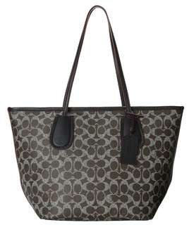 Authentic Coach 34595 Signature Taxi Tote Black Saddle Shoulder Bag