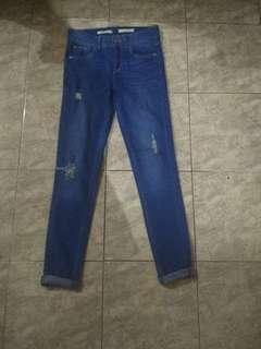 stradivarius ripped jeans skinny fit