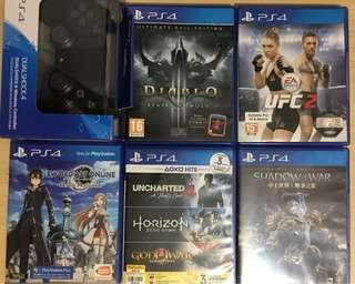 Ps4 games and dualshock 4 controller