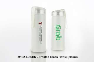 Wholesale AUSTIN - Frosted Glass Bottle (500ml)