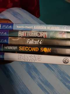 PS4 Games(Infamous Second Son)(Fallout 4)(Far Cry 5)(Battleborn)(Plants Vs Zombies)