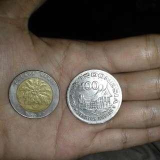 Koin Lama Rp 100 & Rp 1000