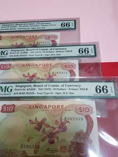 $10-Orchid 3pcs running all pmg66epq HSS WITH SEAL.