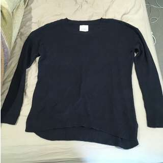 Dark Blue Knit Jumper