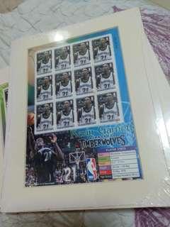 NBA KEVIN Garnett 美國郵票 stamp Nike MVP