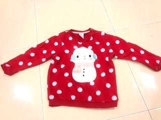 Baby winter shirt - red