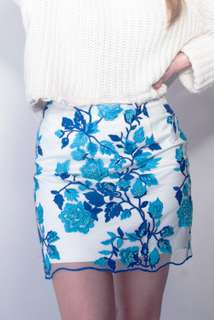 Handmade embroidered lace skirt high quality