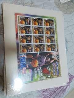 NBA 美國郵票 stamp O'Neal HEAT NIKE MVP