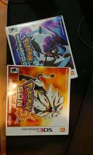 Selling pokemon sun and ultra moon