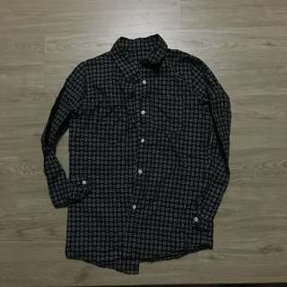 幾何長袖襯衫