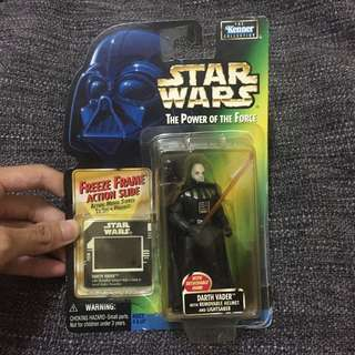 Darth Vader with removable helmet and lightsaber