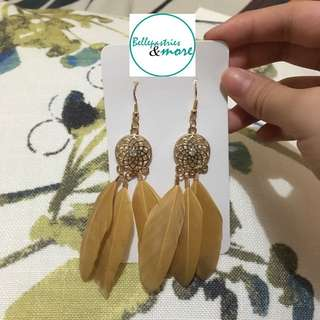 gold dream catcher dangling earings