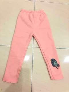 Baby girl winter long pants - Pink