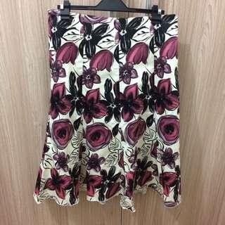 Attitudes Floral Midi Skirt