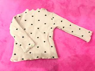 Baby girl winter top - pink