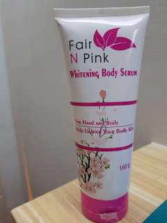 Fair n pink body serum whitening