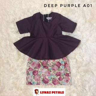Peplum + Skirt #deeppurple