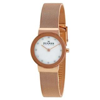 FREJA MOTHER OF PEARL DIAL ROSE GOLD-TONE LADIES WATCH 358SRRD