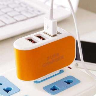 #004 🔥3 USB Charger Adapter
