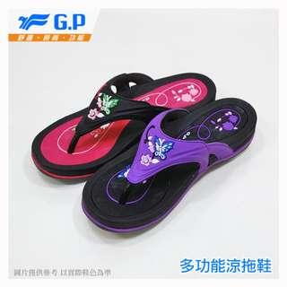 GP~阿亮代言~小鳥牌~時尚立體花樣厚底拖鞋~高跟套拖~GP套拖~G7535W~15
