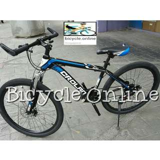 "24"" CROLAN Mountain Bike / MTB ✩ 21 Speeds, front suspension, Disc brakes ✩ Brand New Bicycles"