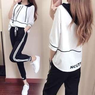 Korea Ulzzang Sports Wear Set