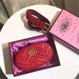 Gucci Marmont Belt bag - red