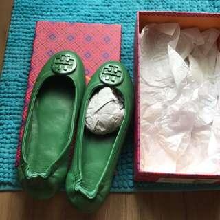 TONY BRUNH(正品) 娃娃鞋TB (9成新)Size:9 珐瑯盾牌平底