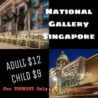 NATIONAL GALLERY SINGAPORE ETICKET ( TOURIST / FOREIGNERS ONLY!)