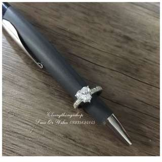 Customized Heart Diamond Ring