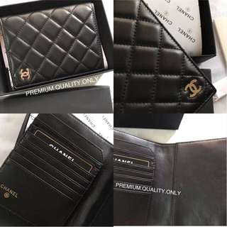 Chanel lambskin Passport holder/ cover- black