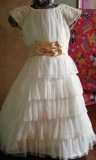 White Formal Dress/ Gown