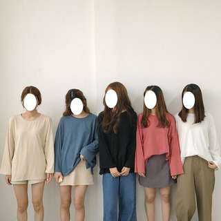 [PO] 7 Colours Oversized Long Sleeve Top