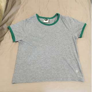 Cropped Grey Tee