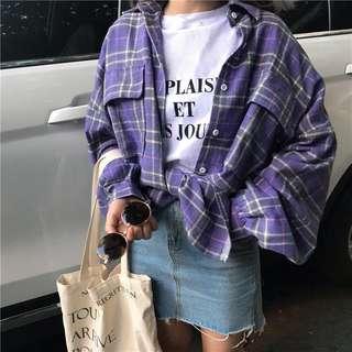 預購❗️百搭格子襯衫
