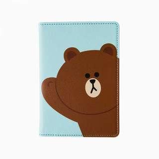 Line Brown Passport Cover