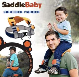 Saddle baby shoulder carrier
