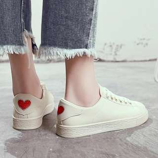 Love Embroidered White Sneakers