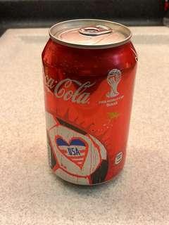 Coca-Cola 可囗可樂 2014 Fifa World Cup Brazil 世界盃 - USA 美國