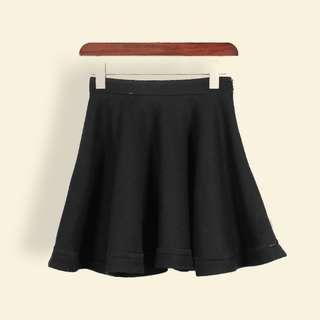 羊毛鏤空短裙 傘裙