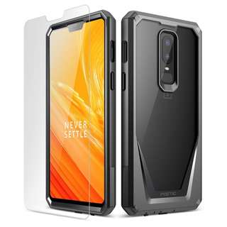 [IN-STOCK] OnePlus 6 Case, Poetic Guardian [Scratch Resistant] [360 Degree Protection] Full-Body Rugged Clear Bumper Case [With Tempered Glass] for OnePlus 6